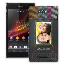 Chevron Chalkboard Sony Xperia C ColorStrong Slim-Pro Case