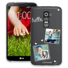 Chalk Portraits Duo LG G2 ColorStrong Slim-Pro Case