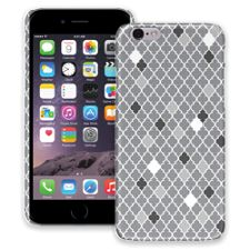 Speckled Grey Quatrefoil iPhone 6 ColorStrong Slim-Pro Case