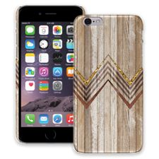 Retro Brown Wood Chevron iPhone 6 ColorStrong Slim-Pro Case
