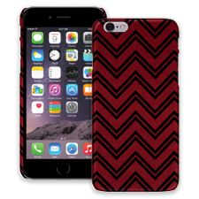 Brick Red & Black Double Chevron iPhone 6 ColorStrong Slim-Pro Case