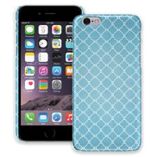 Sky Blue Quatrefoil iPhone 6 ColorStrong Slim-Pro Case
