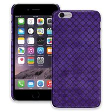 Purple & Black Quatrefoil iPhone 6 ColorStrong Slim-Pro Case