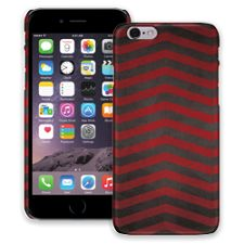 Red & Grey Bold Chevron iPhone 6 ColorStrong Slim-Pro Case