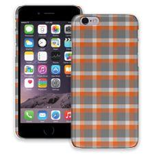 Minimalist Orange & Grey Plaid iPhone 6 ColorStrong Slim-Pro Case