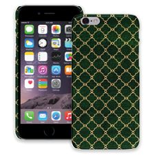 Green & Gold Quatrefoil iPhone 6 ColorStrong Slim-Pro Case