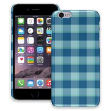 Blue Checkered Plaid iPhone 6 ColorStrong Slim-Pro Case