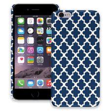 Keyhole Quatrefoil Navy Blue iPhone 6 ColorStrong Slim-Pro Case