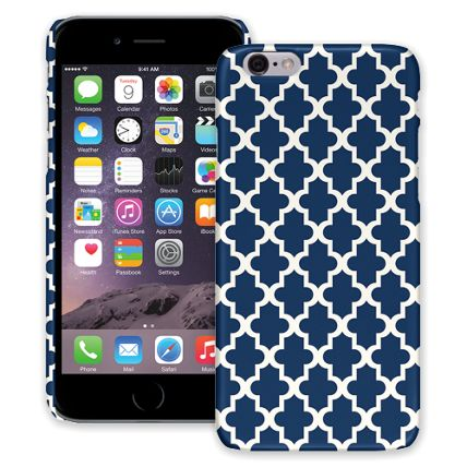 Keyhole Quatrefoil Navy Blue iPhone 6 ColorStrong Slim-Pro Case
