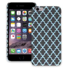 Keyhole Quatrefoil Grey Blue iPhone 6 ColorStrong Slim-Pro Case