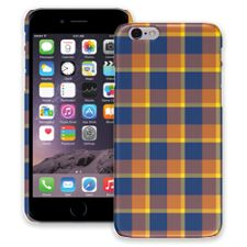 Blue & Yellow Plaid iPhone 6 ColorStrong Slim-Pro Case