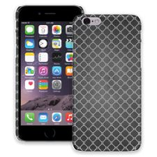 Grey on Grey Quatrefoil Light iPhone 6 ColorStrong Slim-Pro Case