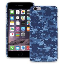 Blue Digital Camouflage iPhone 6 ColorStrong Slim-Pro Case