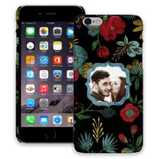 Bright Floral on Black iPhone 6 ColorStrong Slim-Pro Case