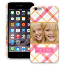 Pink Plaid iPhone 6 ColorStrong Slim-Pro Case