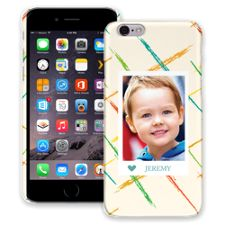 Crayon Splash Blue iPhone 6 ColorStrong Slim-Pro Case