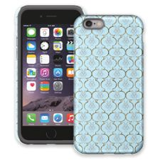 Golden Blue Quatrefoil iPhone 6 ColorStrong Cush-Pro Case