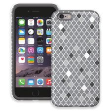 Speckled Grey Quatrefoil iPhone 6 ColorStrong Cush-Pro Case