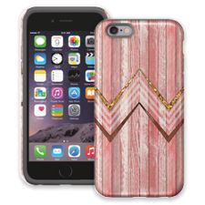 Retro Pink Wood Chevron iPhone 6 ColorStrong Cush-Pro Case