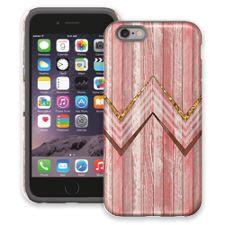 Retro Pink Wood Chevron iPhone 6 ColorStrong Cush-Pro Case