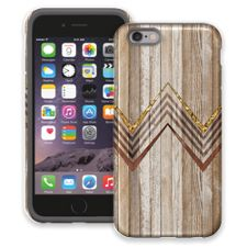 Retro Brown Wood Chevron iPhone 6 ColorStrong Cush-Pro Case