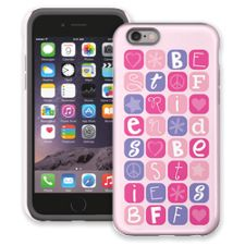 BFF Blocks Pink iPhone 6 ColorStrong Cush-Pro Case