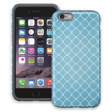 Sky Blue Quatrefoil iPhone 6 ColorStrong Cush-Pro Case