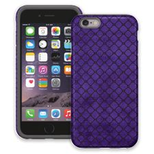 Purple & Black Quatrefoil iPhone 6 ColorStrong Cush-Pro Case