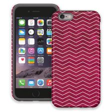 Berry & White Chevron iPhone 6 ColorStrong Cush-Pro Case