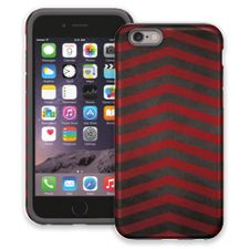 Red & Grey Bold Chevron iPhone 6 ColorStrong Cush-Pro Case