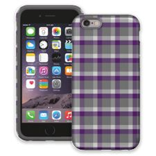 Minimalist Purple & Grey Plaid iPhone 6 ColorStrong Cush-Pro Case