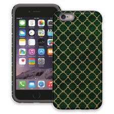 Green & Gold Quatrefoil iPhone 6 ColorStrong Cush-Pro Case