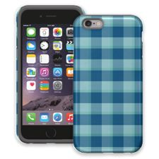 Blue Checkered Plaid iPhone 6 ColorStrong Cush-Pro Case