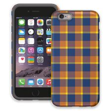 Blue & Yellow Plaid iPhone 6 ColorStrong Cush-Pro Case