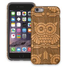 Woodcut Owl iPhone 6 ColorStrong Cush-Pro Case