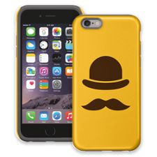 Bowler Hat & Mustache iPhone 6 ColorStrong Cush-Pro Case