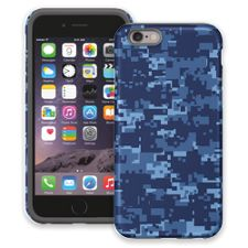 Blue Digital Camouflage iPhone 6 ColorStrong Cush-Pro Case