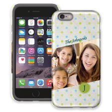 Polka Dot Muslin iPhone 6 ColorStrong Cush-Pro Case