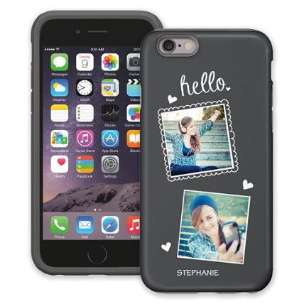 Chalk Portraits Duo iPhone 6 ColorStrong Cush-Pro Case