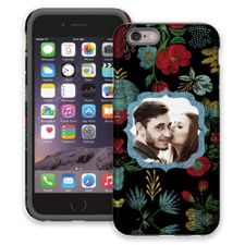 Bright Floral on Black iPhone 6 ColorStrong Cush-Pro Case