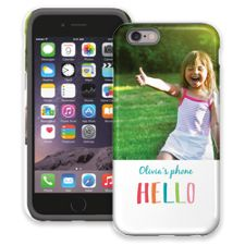 Crayon Hello iPhone 6 ColorStrong Cush-Pro Case