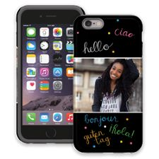 Neon Hello iPhone 6 ColorStrong Cush-Pro Case