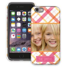 Pink Plaid iPhone 6 ColorStrong Cush-Pro Case