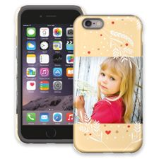 Honey Wheat Heart iPhone 6 ColorStrong Cush-Pro Case