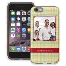 Retro Plaid iPhone 6 ColorStrong Cush-Pro Case