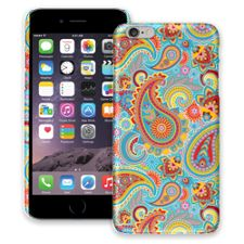Aqua Blue and Sunshine Paisley iPhone 6 Plus ColorStrong Slim-Pro Case