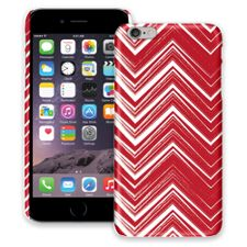 Red & White Scribble Chevron iPhone 6 Plus ColorStrong Slim-Pro Case