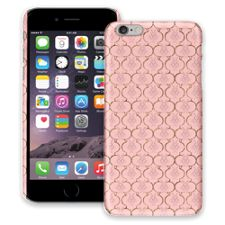 Golden Pink Quatrefoil iPhone 6 Plus ColorStrong Slim-Pro Case