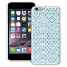 Golden Blue Quatrefoil iPhone 6 Plus ColorStrong Slim-Pro Case