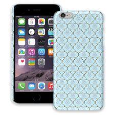 Golden Blue Quatrefoil iPhone 6 Plus ColorStrong Slim-Pro Case